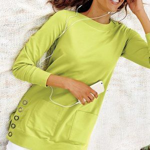 Soft Surroundings Make It Snappy Pullover 2X
